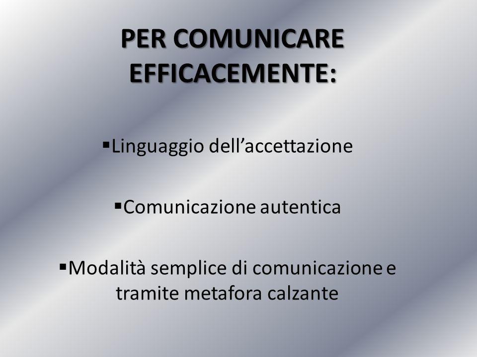 PER COMUNICARE EFFICACEMENTE:
