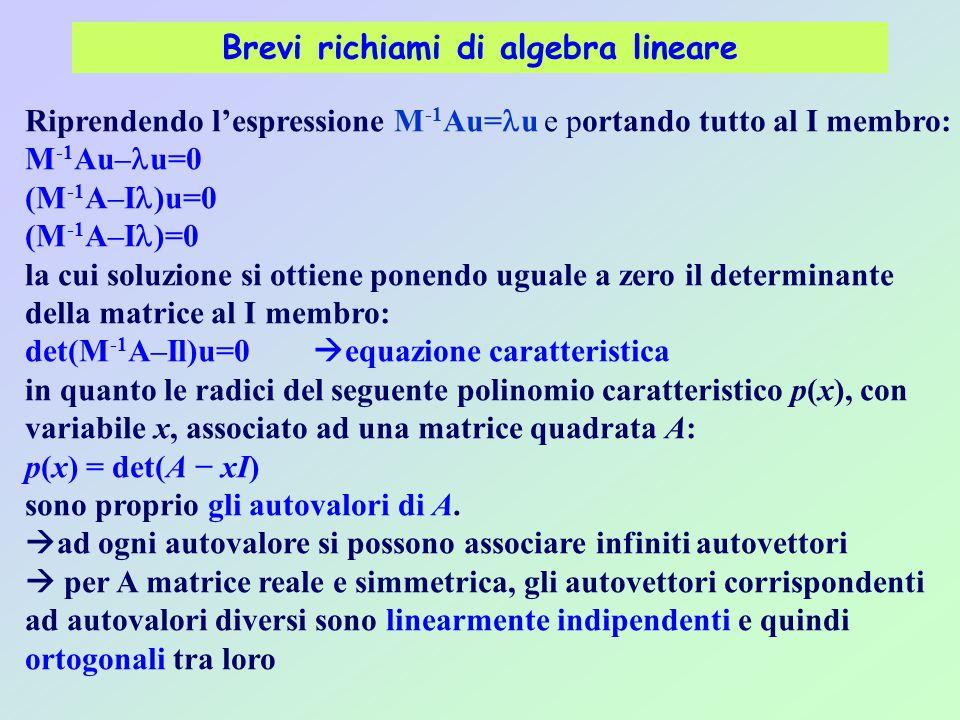 Brevi richiami di algebra lineare