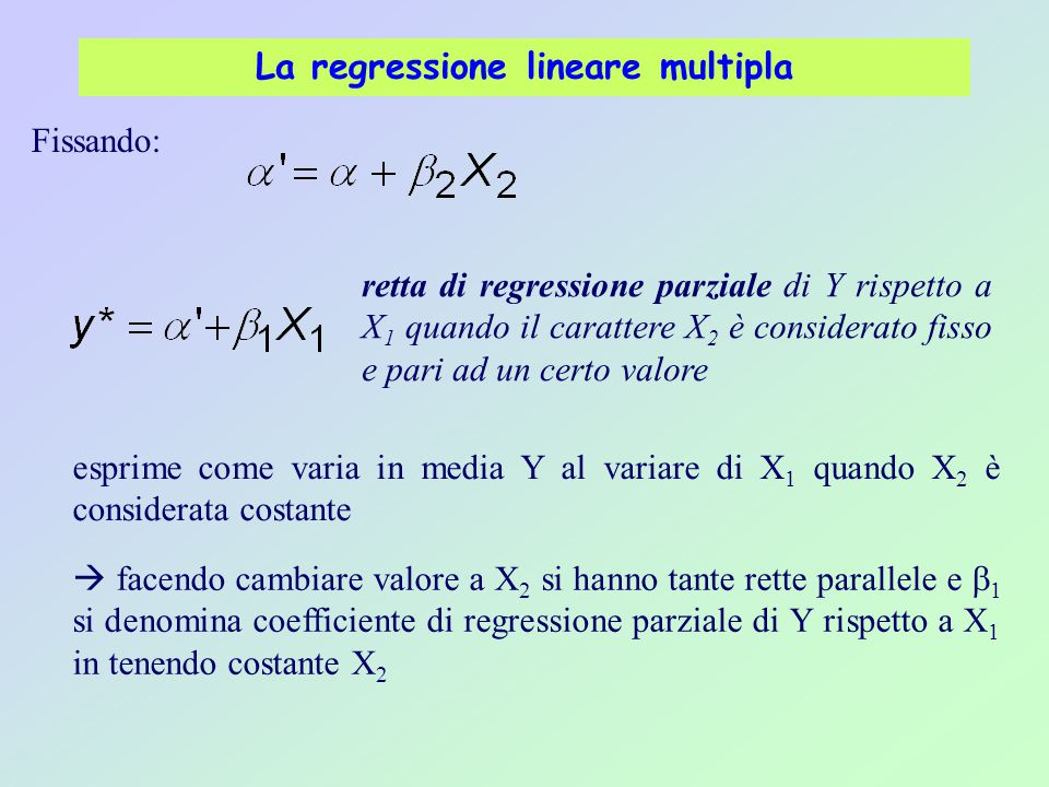 La regressione lineare multipla