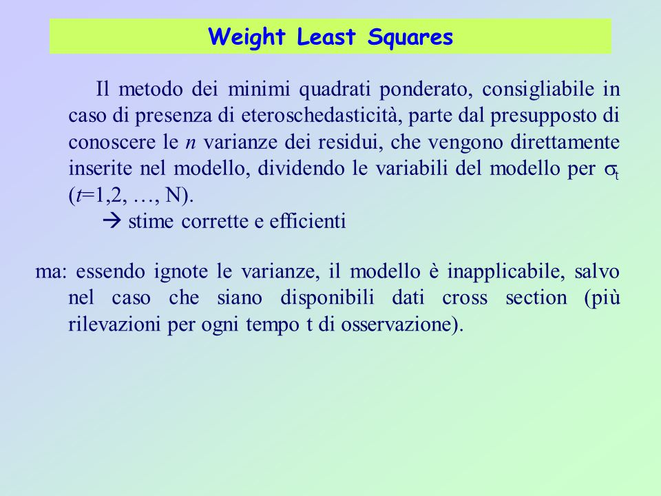 Weight Least Squares