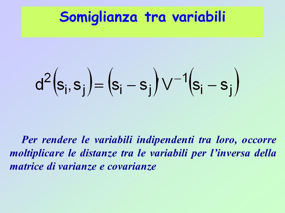 Somiglianza tra variabili