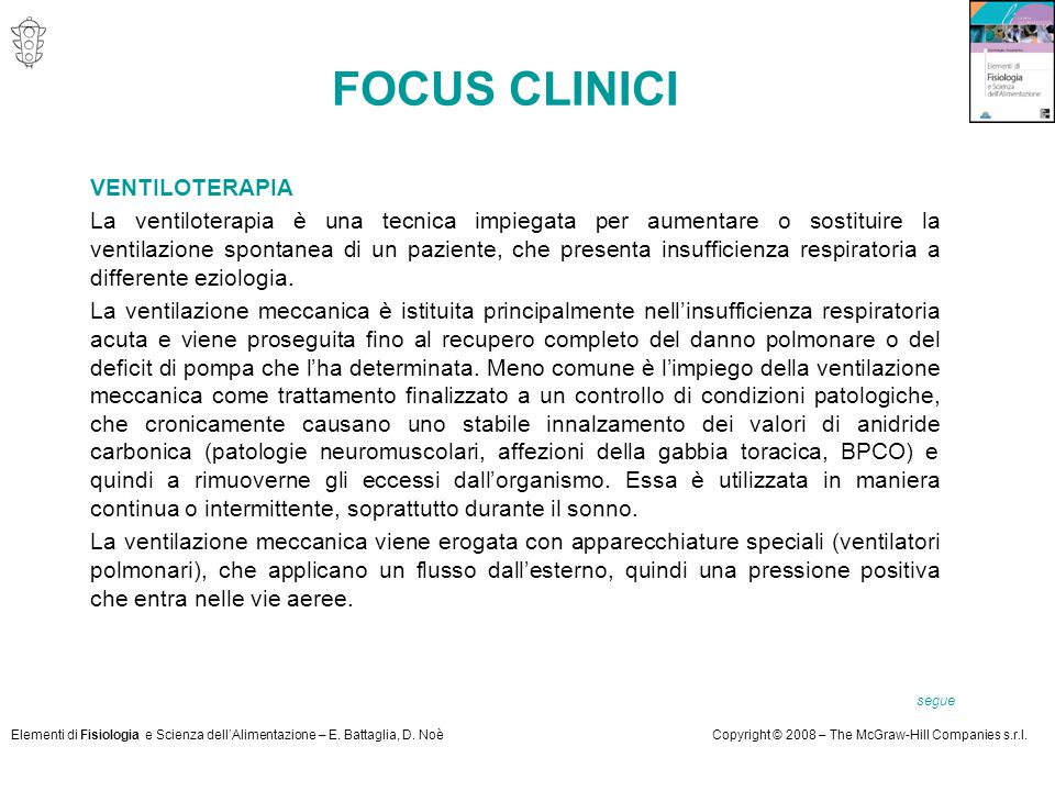 FOCUS CLINICI VENTILOTERAPIA