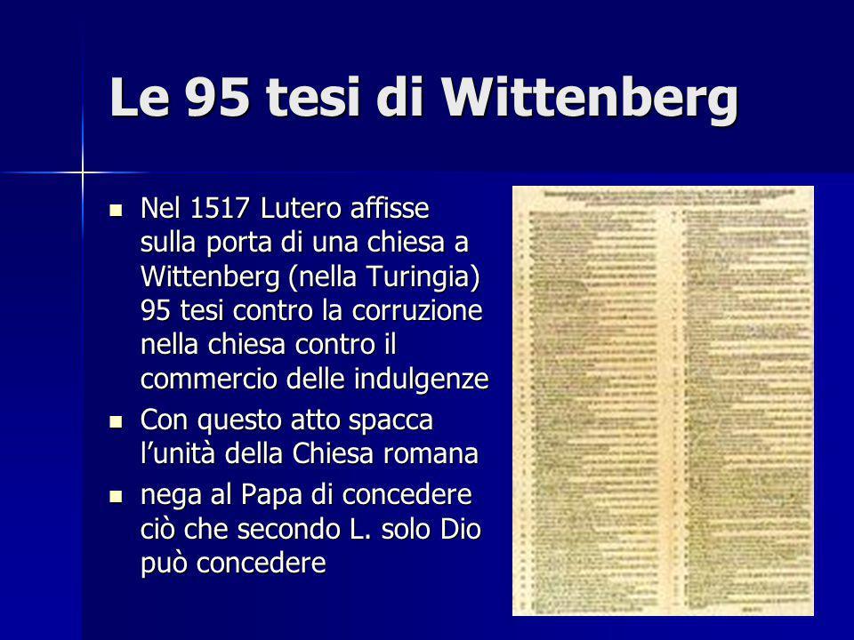 Le 95 tesi di Wittenberg