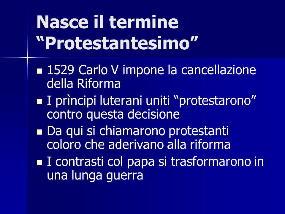 Nasce il termine Protestantesimo
