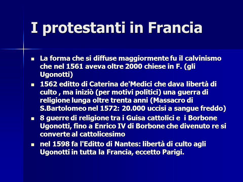 I protestanti in Francia