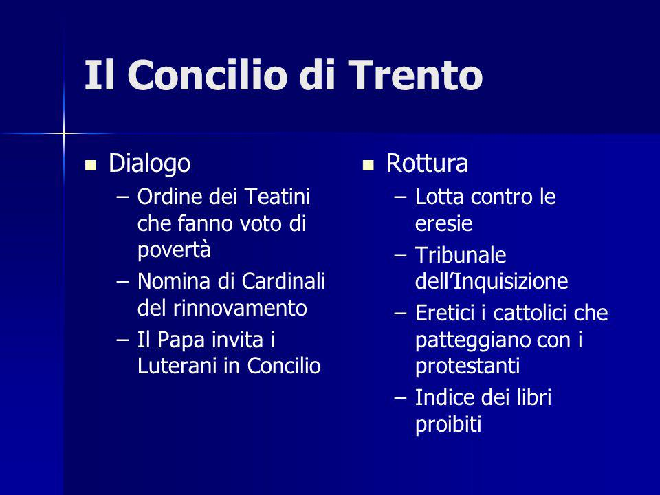 Il Concilio di Trento Dialogo Rottura