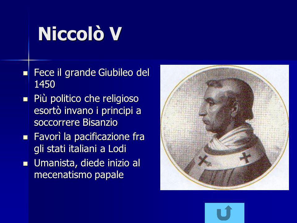Niccolò V Fece il grande Giubileo del 1450