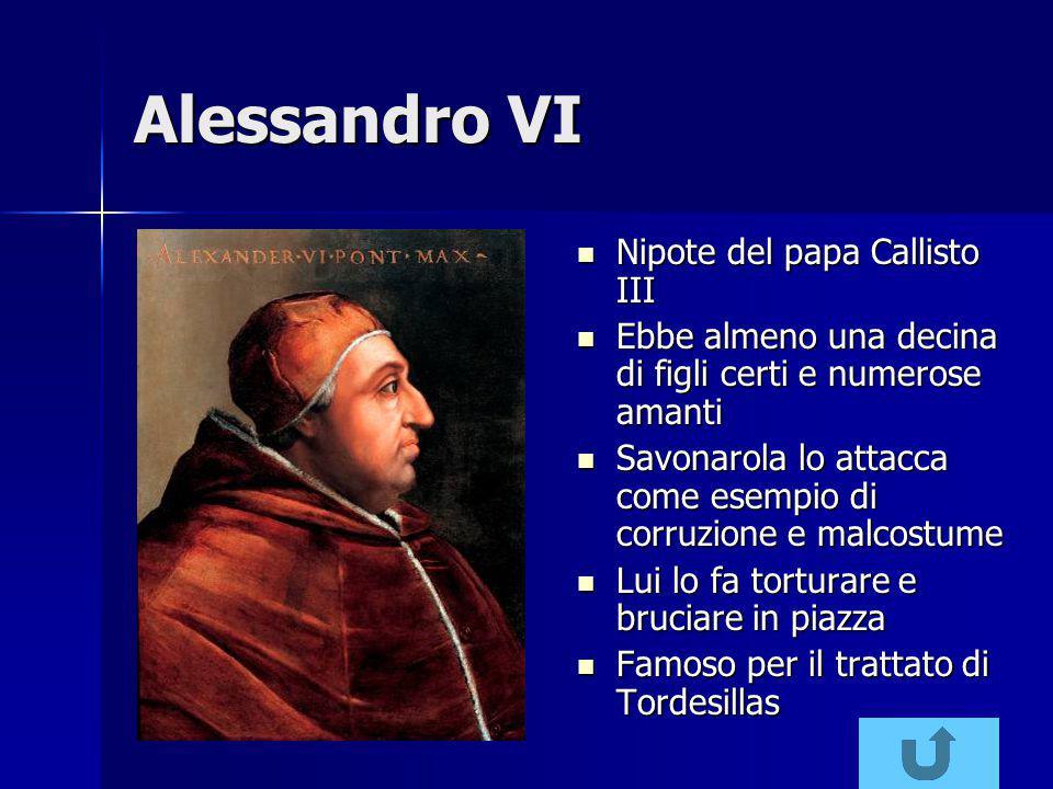 Alessandro VI Nipote del papa Callisto III