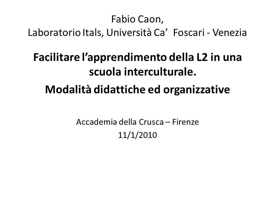 Fabio Caon, Laboratorio Itals, Università Ca' Foscari - Venezia