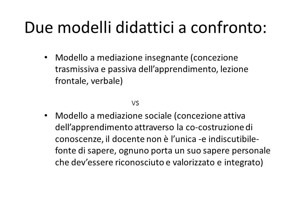 Due modelli didattici a confronto: