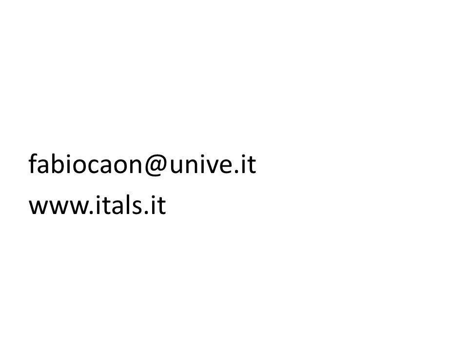fabiocaon@unive.it www.itals.it