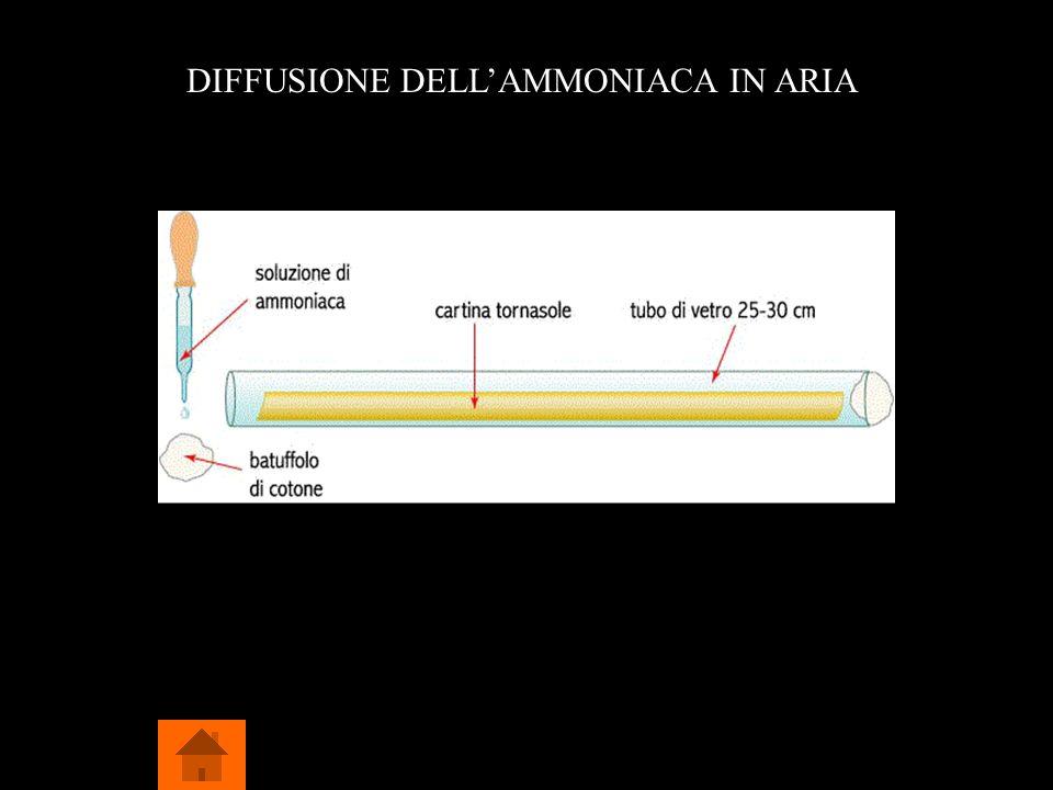 DIFFUSIONE DELL'AMMONIACA IN ARIA