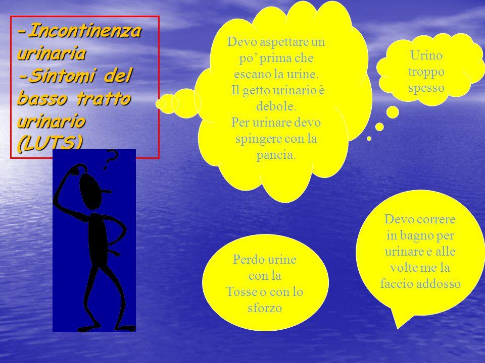 -Incontinenza urinaria -Sintomi del basso tratto urinario (LUTS)