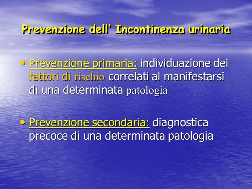 Prevenzione dell' Incontinenza urinaria