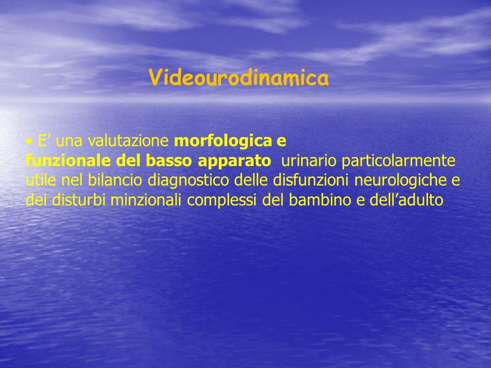 Videourodinamica • E' una valutazione morfologica e