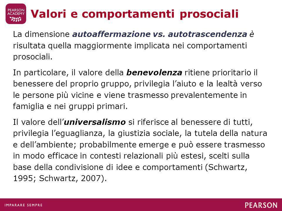 Valori e comportamenti prosociali