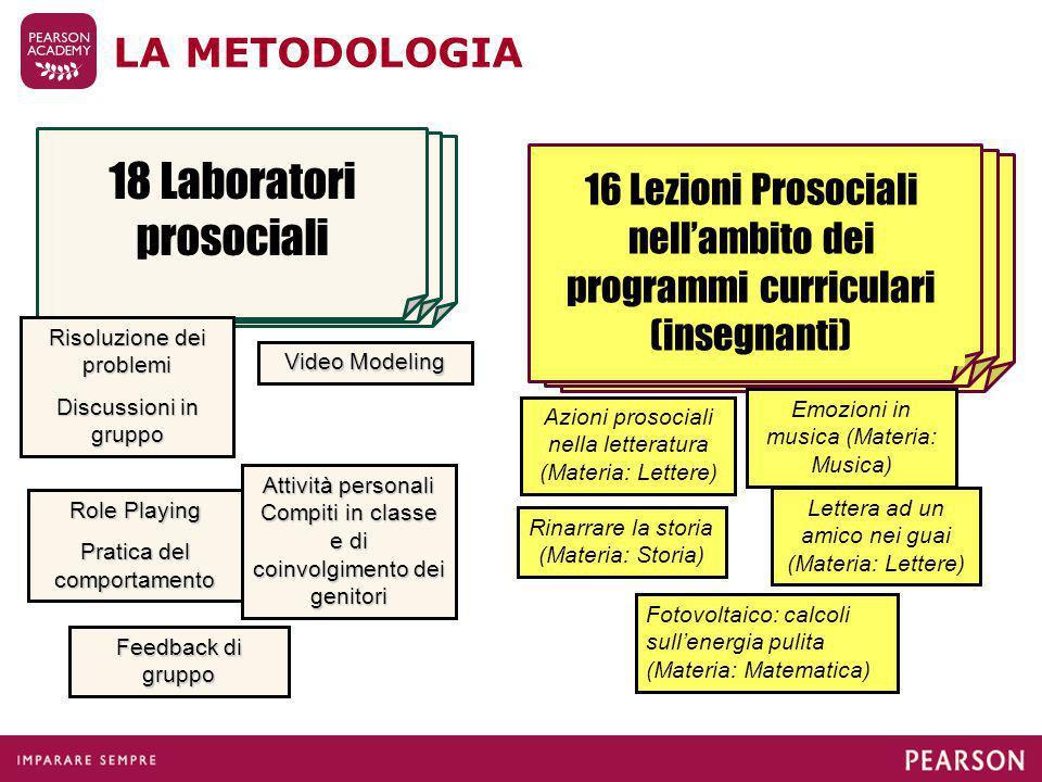 18 Laboratori prosociali