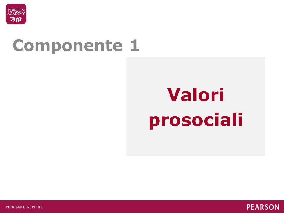 Componente 1 Valori prosociali