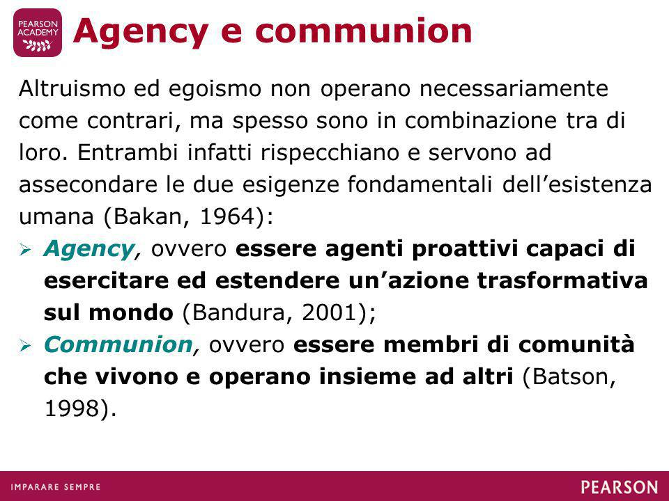 Agency e communion
