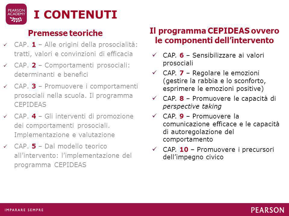 Il programma CEPIDEAS ovvero le componenti dell'intervento