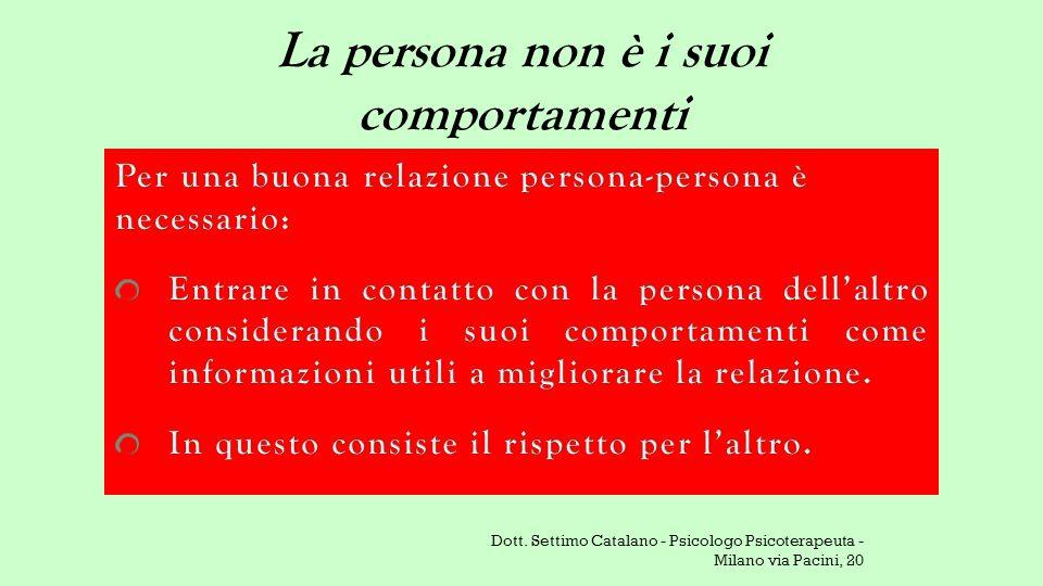 La persona non è i suoi comportamenti