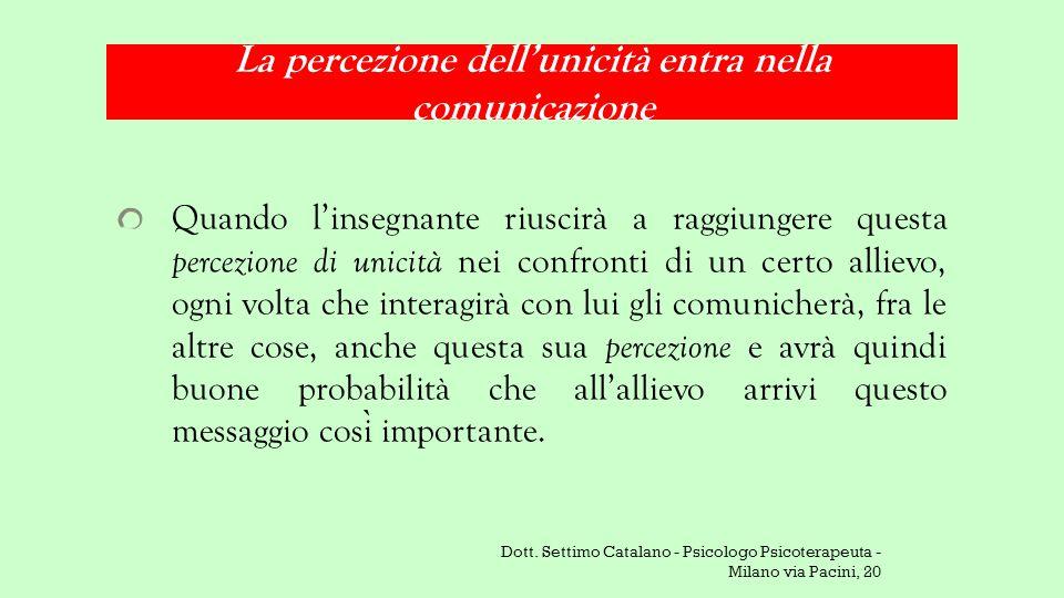 La percezione dell'unicità entra nella comunicazione