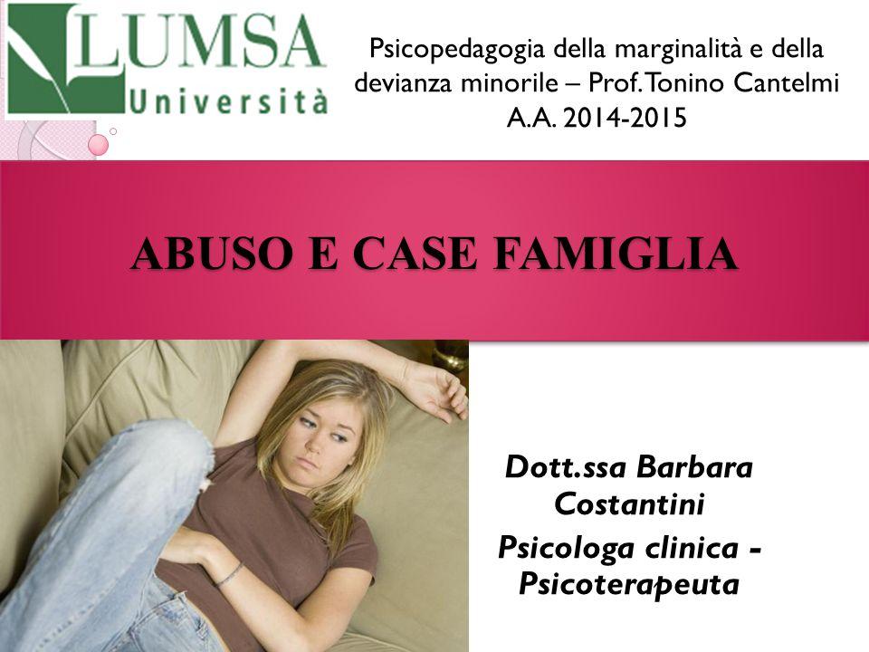 Dott.ssa Barbara Costantini Psicologa clinica - Psicoterapeuta