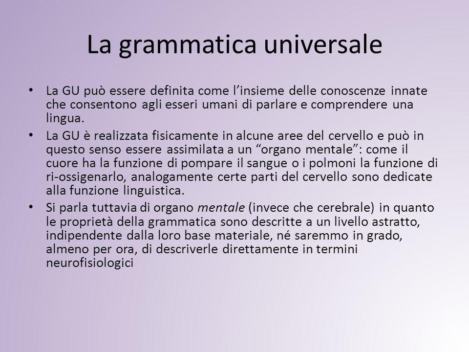La grammatica universale