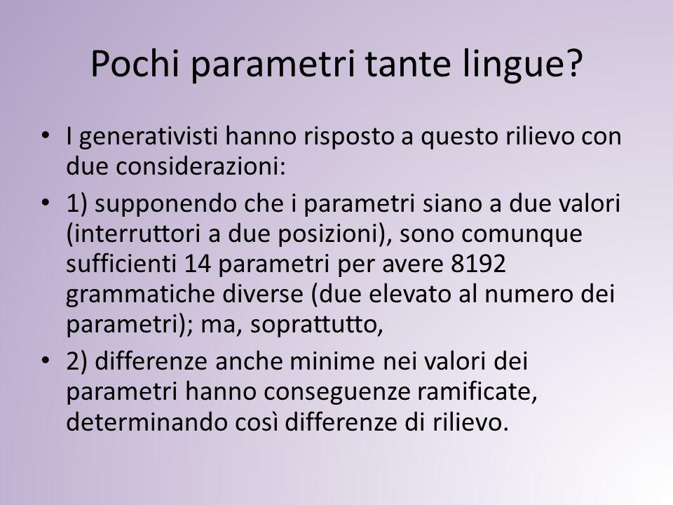 Pochi parametri tante lingue