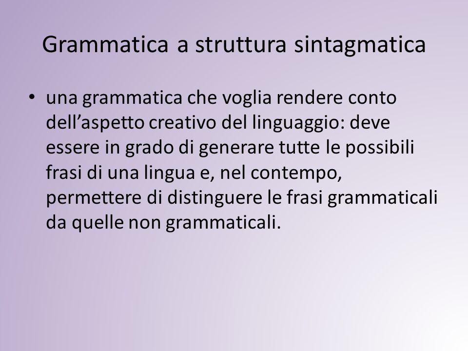 Grammatica a struttura sintagmatica
