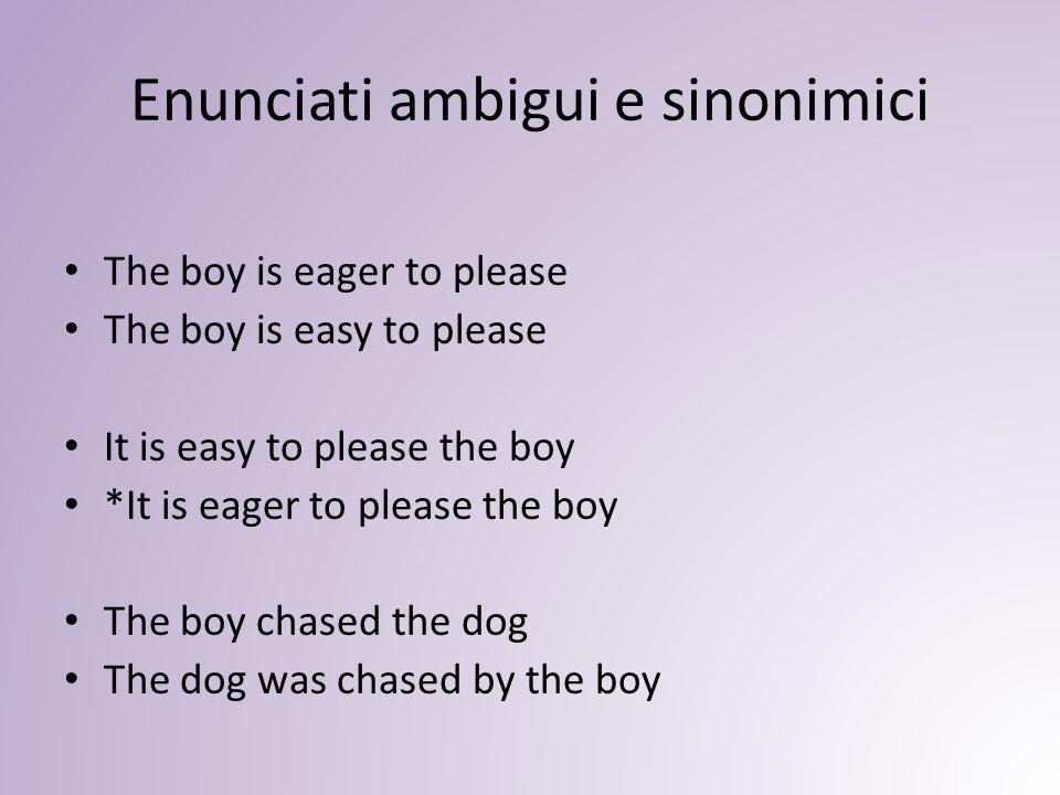 Enunciati ambigui e sinonimici