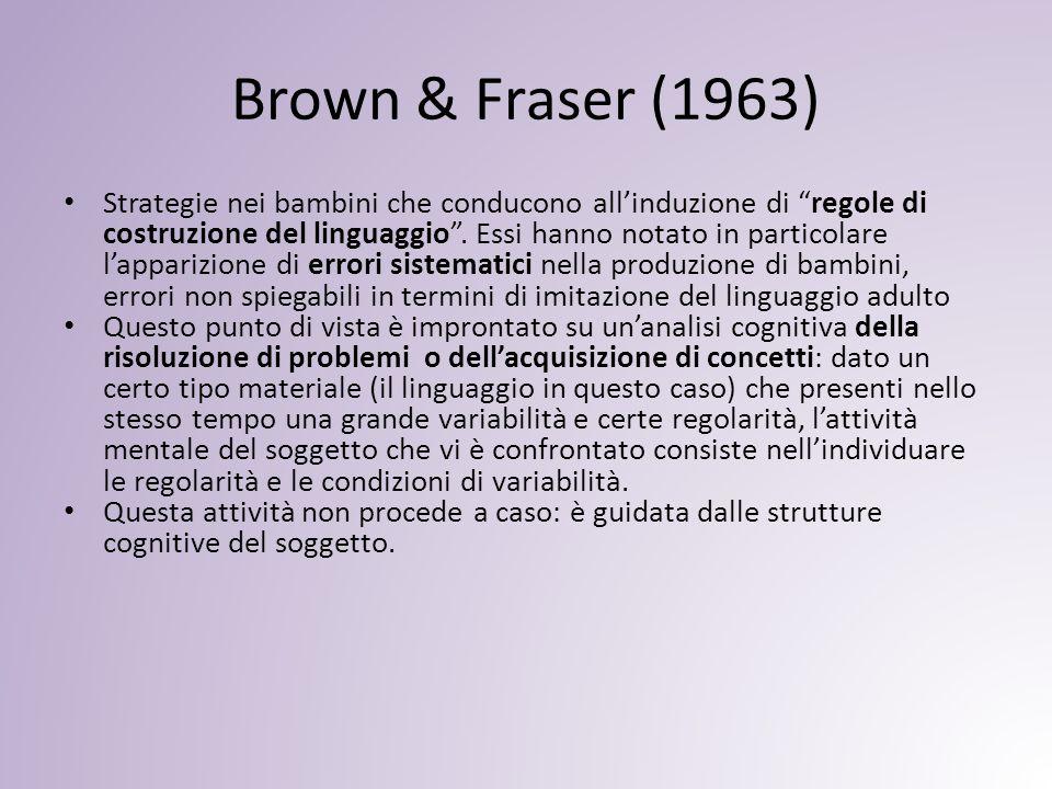 Brown & Fraser (1963)