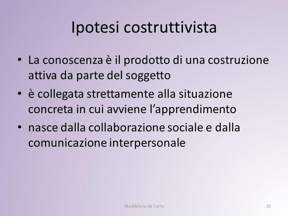Ipotesi costruttivista
