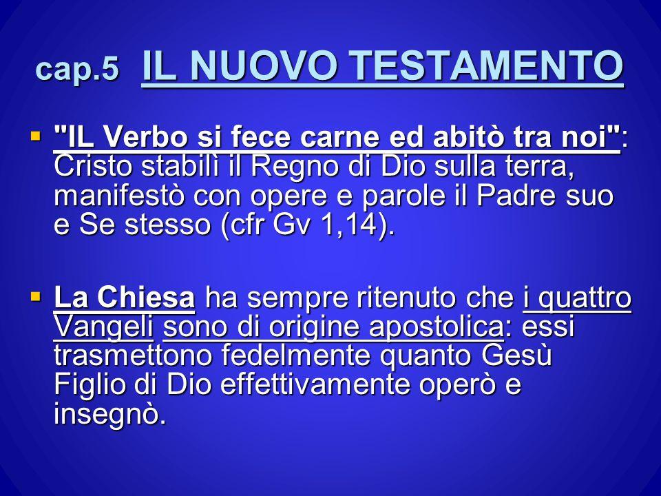 cap.5 IL NUOVO TESTAMENTO