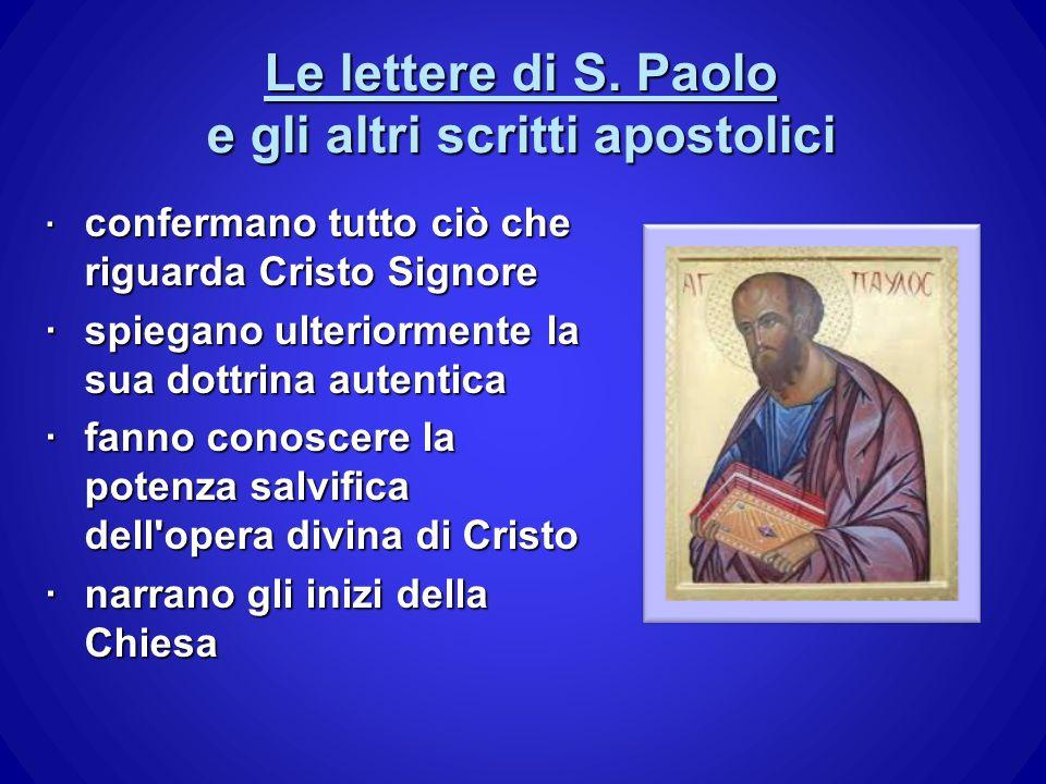 Le lettere di S. Paolo e gli altri scritti apostolici