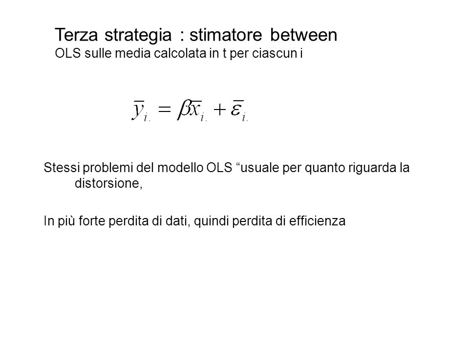 Terza strategia : stimatore between