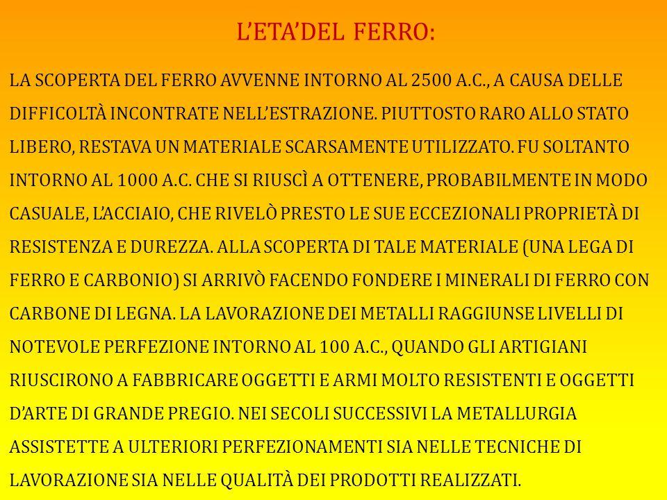L'ETA'DEL FERRO: