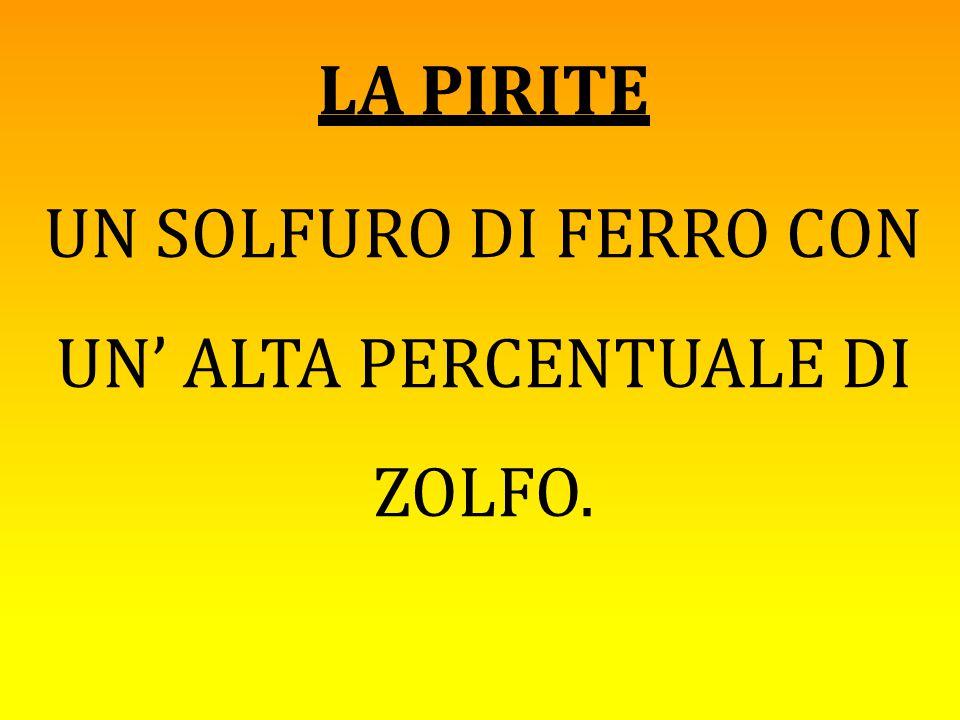 UN SOLFURO DI FERRO CON UN' ALTA PERCENTUALE DI ZOLFO.