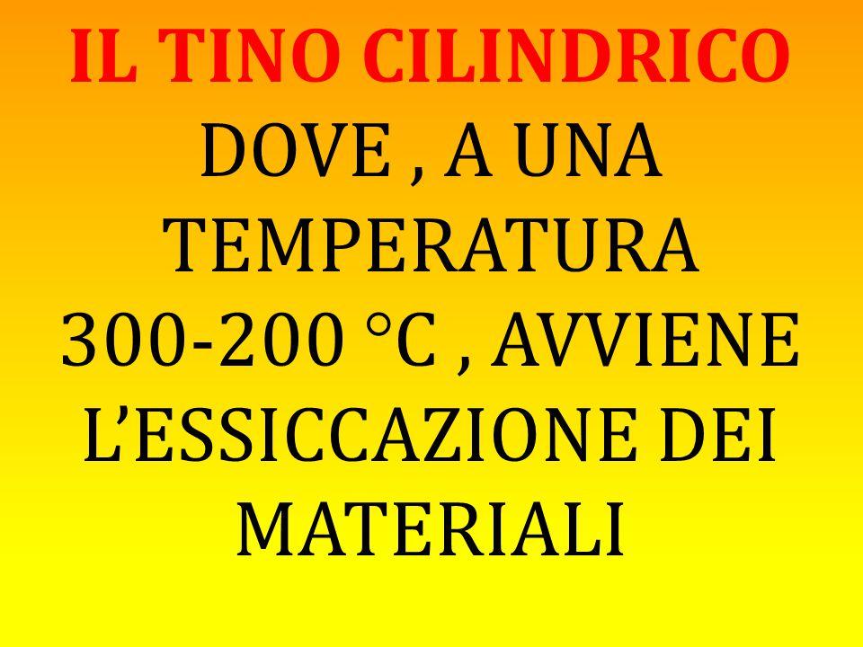 300-200 °C , AVVIENE L'ESSICCAZIONE DEI MATERIALI