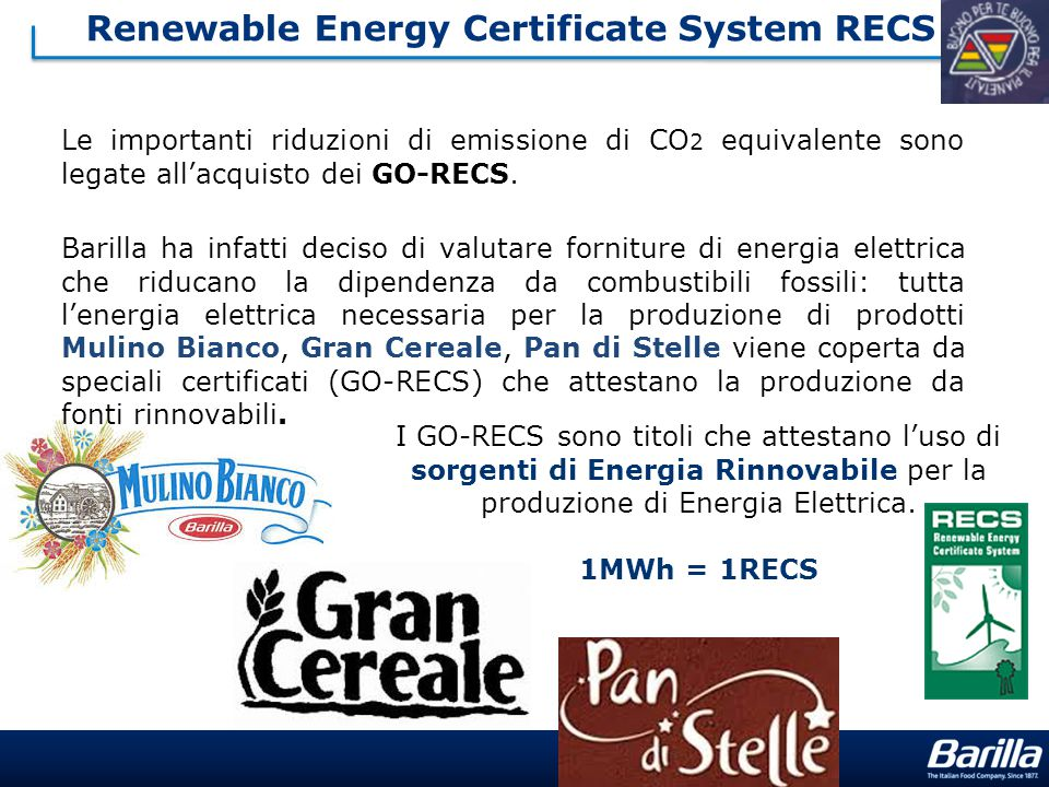 Renewable Energy Certificate System RECS