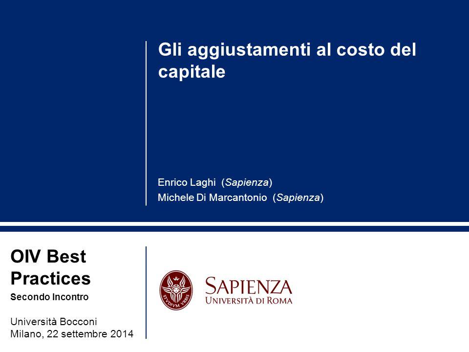 Gli aggiustamenti al costo del capitale
