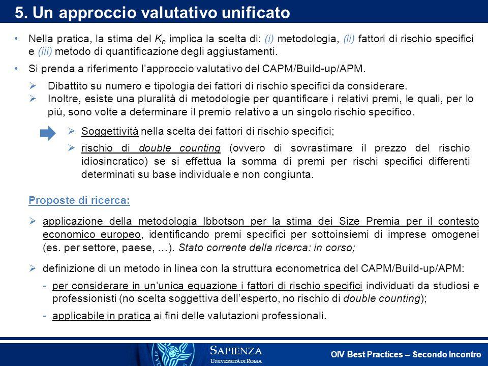 5. Un approccio valutativo unificato