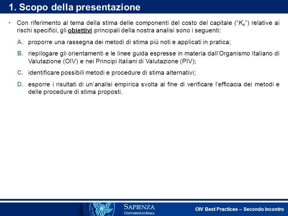 1. Scopo della presentazione