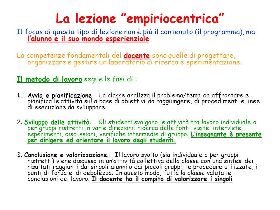 La lezione empiriocentrica