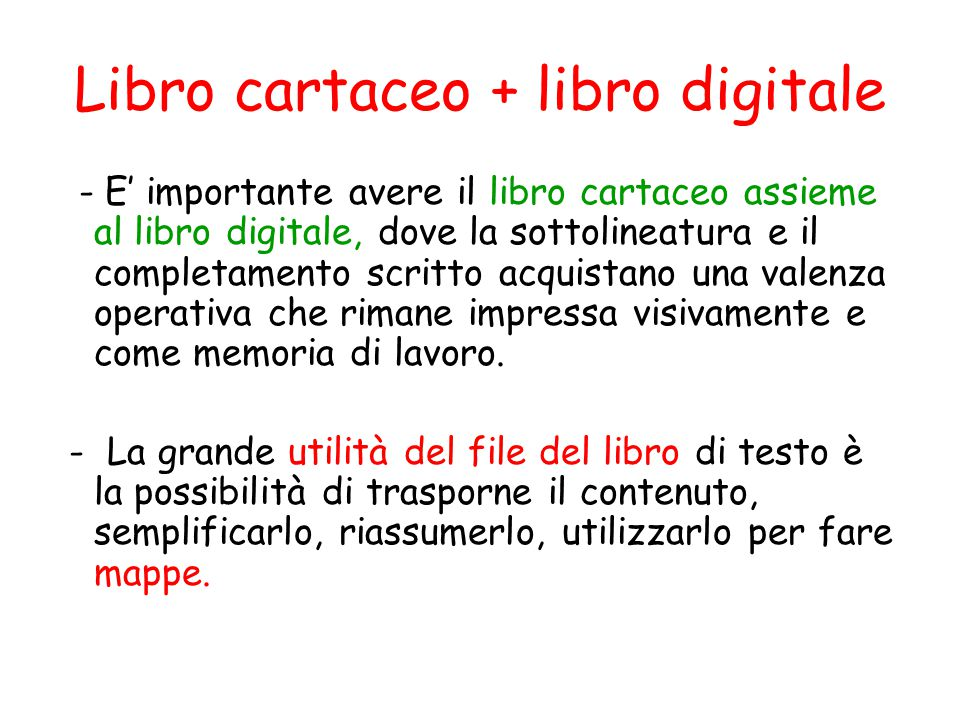 Libro cartaceo + libro digitale