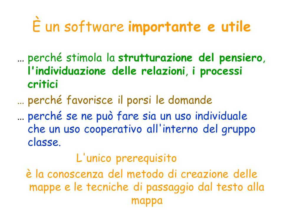 È un software importante e utile