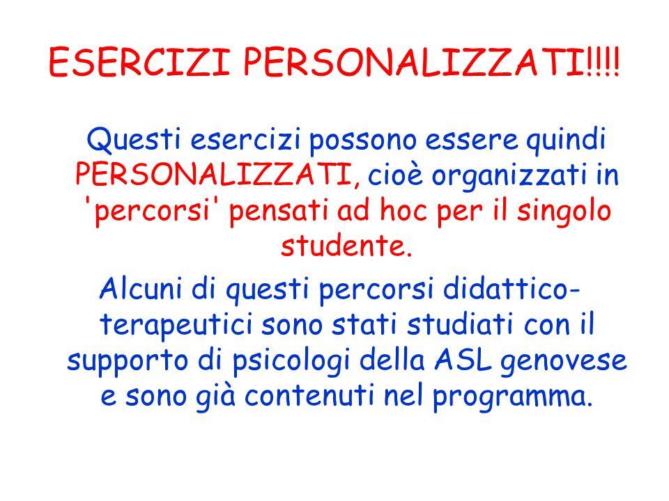 ESERCIZI PERSONALIZZATI!!!!