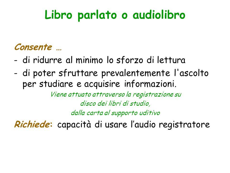 Libro parlato o audiolibro