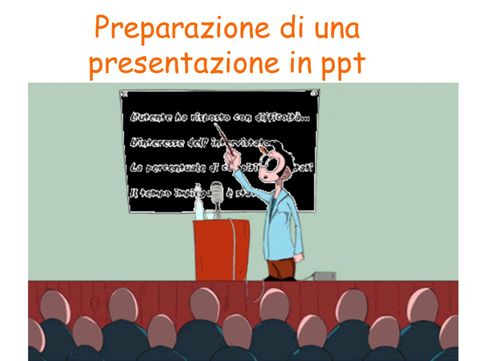 Preparazione di una presentazione in ppt