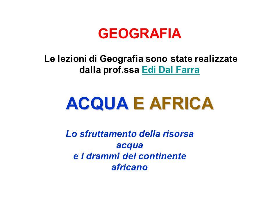 Lo sfruttamento della risorsa acqua e i drammi del continente africano